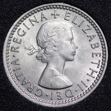 1963 Elizabeth II Sixpence Obv