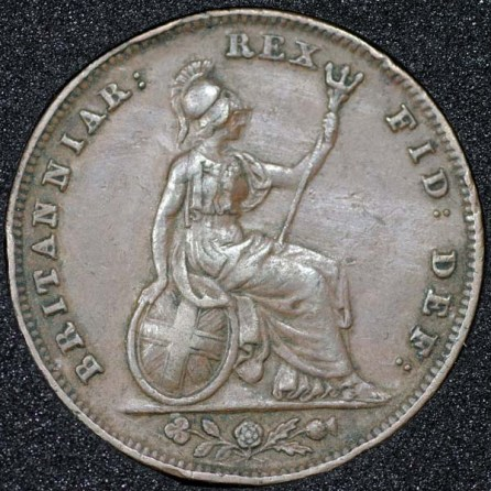 1835 William IV Farthing Rev