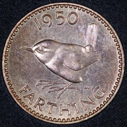 1950 Farthing George VI PROOF Rev Web