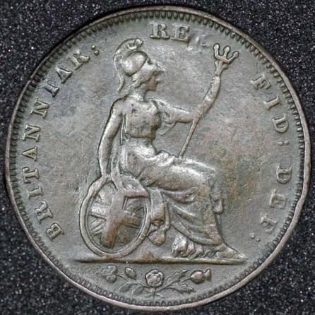 1827 George IV Farthing Rev
