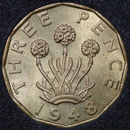 1948 George VI Threepence Rev