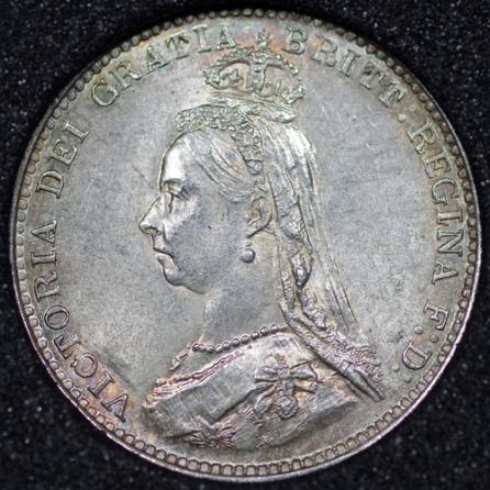 1900 Victoria Silver Threepence Obv