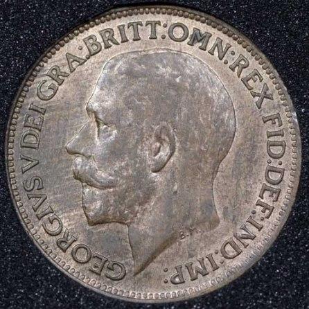 1921 George V Farthing Obv