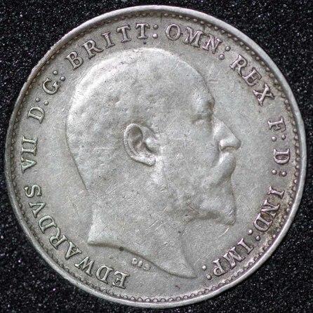 1905 Edward VII Silver Threepence Obv
