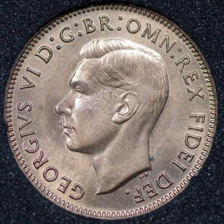 1952 George VI Farthing Obv