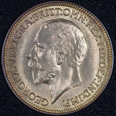 1931 George V Farthing Obv