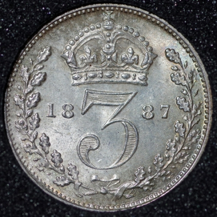 1887 Threepence 3d Victoria Rev Website