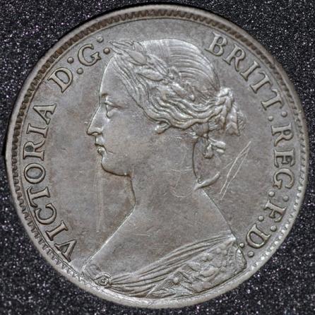 1865 Farthing Obv
