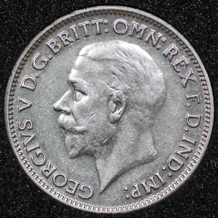 1932 George V Sixpence Obv