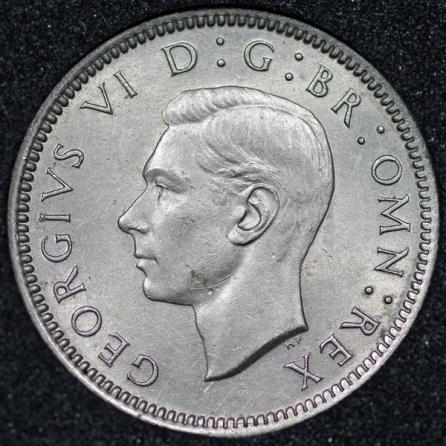 1952 George VI Sixpence Obv