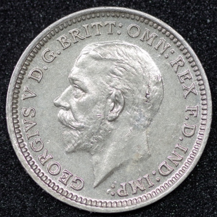 1928 George V Silver Threepence 1 Obv