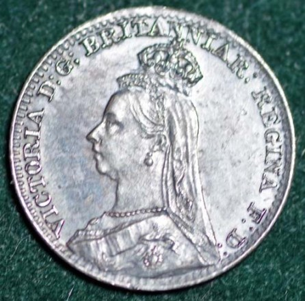 1888 Maundy 1d Obv