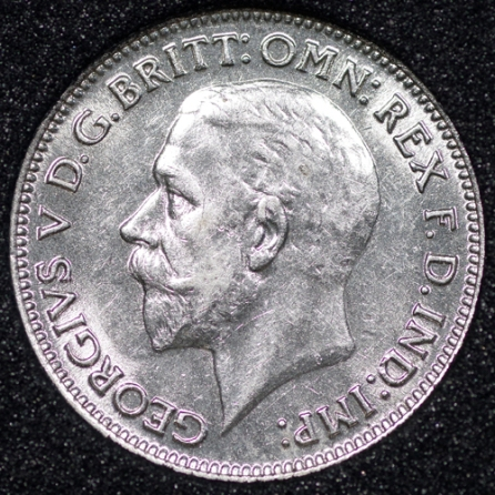 1935 George V Sixpence Obv