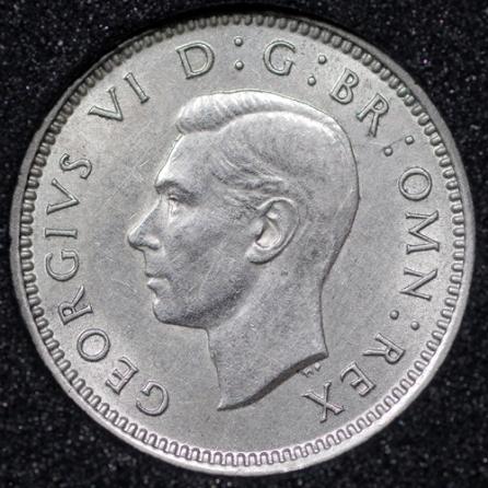 1939 George VI Silver Threepence Obv