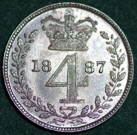 1887 Maundy 4d Rev