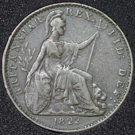 1822 George IV Farthing Rev