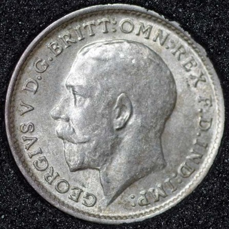 1911 George V Silver Threepence Obv