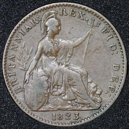 1823 George IV Farthing Rev