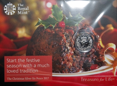 Royal Mint 2017 Christmas Sixpence Packaging Front