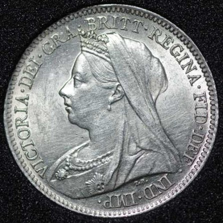 1899 Victoria Sixpence Obv