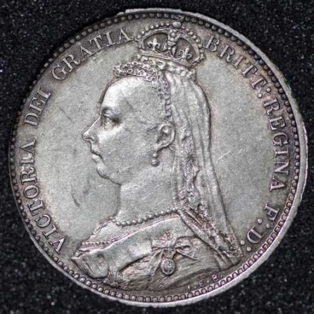 1887 Victoria Withdrawn Type Sixpence Obv