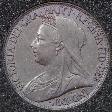 1901 VictoriaI Farthing DARKENED Obv