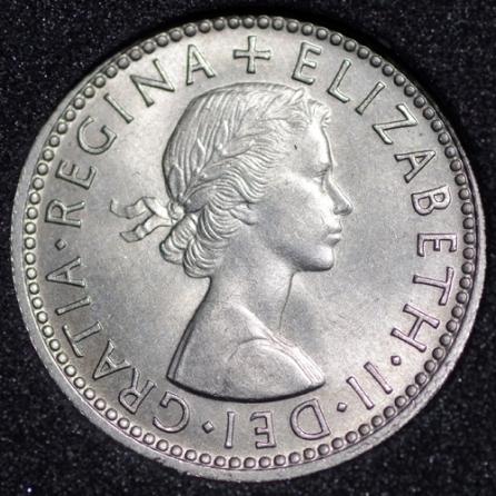 1958 Elizabeth II Sixpence Obv