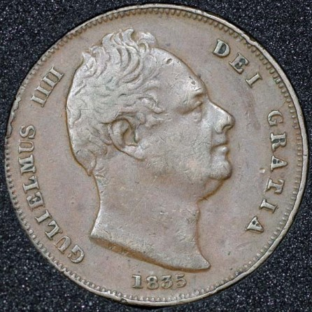 1835 William IV Farthing Obv