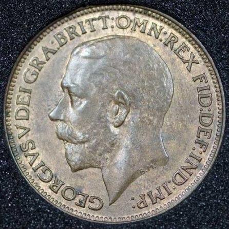 1922 George V Farthing Obv