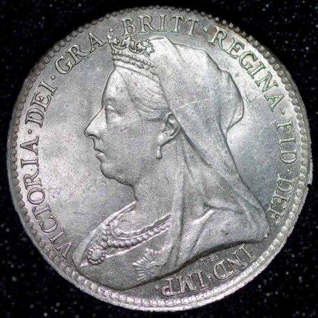 1893 Victoria Silver Threepence Obv