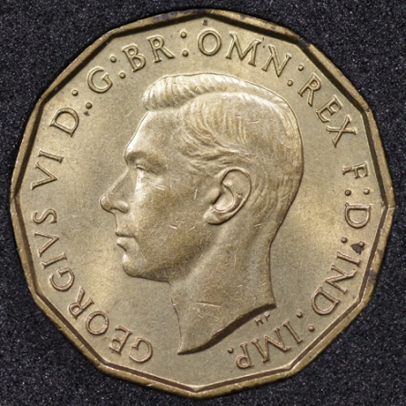 1940 George VI Threepence Obv