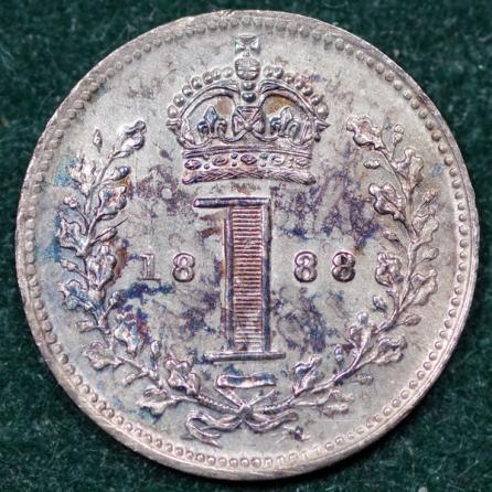 1888 Maundy 1d Rev 2nd Set