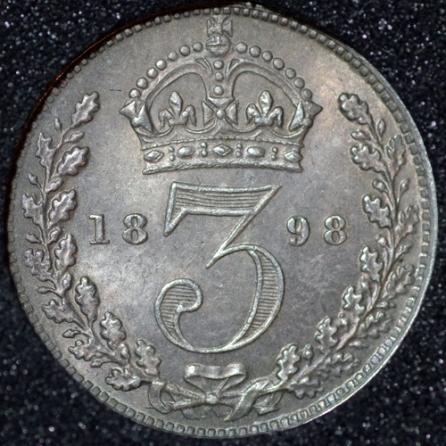 1898 Silver 3d Victoria Rev Web