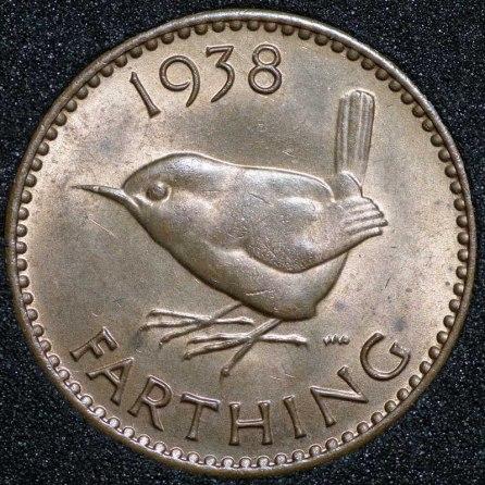 1938 George VI Farthing Rev