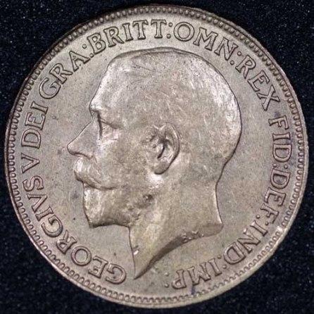 1920 George V Farthing Obv