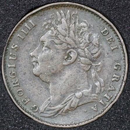 1822 George IV Farthing Obv