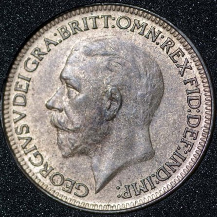 1926 George V Farthing Obv