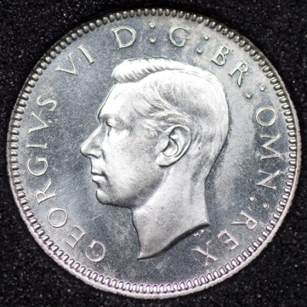 1937 George VI PROOF Sixpence Obv