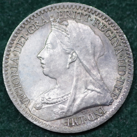 1898 Maundy 1d Victoria Obv Web