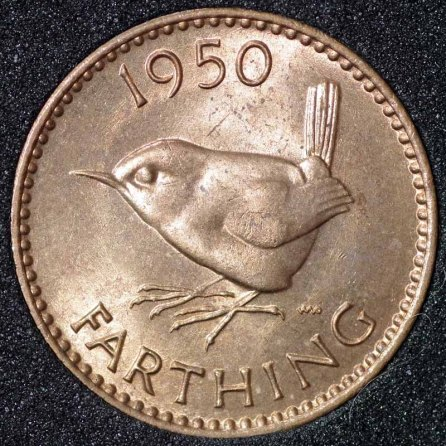 1950 George VI Farthing Rev