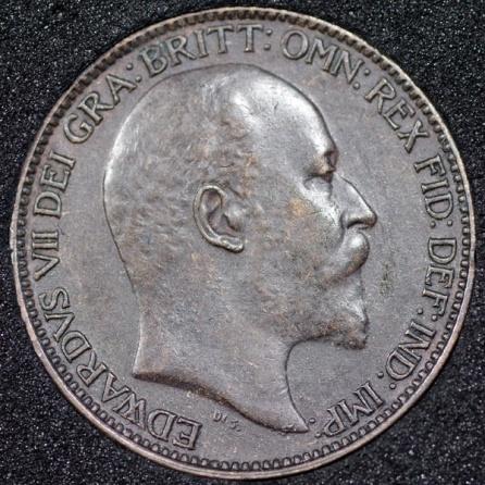 1904 Edward VII Farthing DARKENED Obv