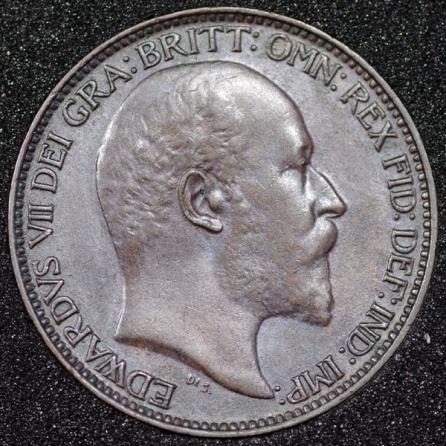 1903 Edward VII Farthing DARKENED Obv