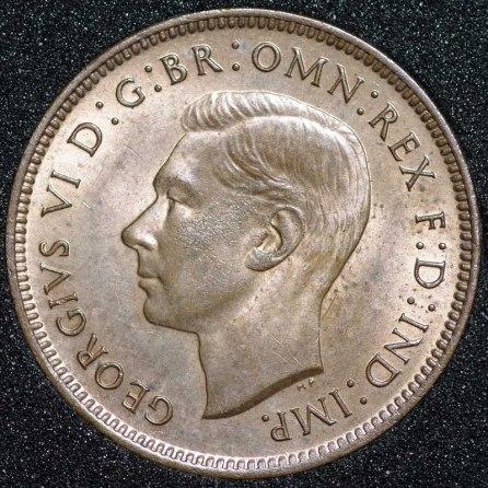 1938 George VI Farthing Obv