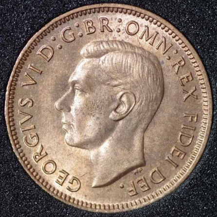 1950 George VI Farthing Obv