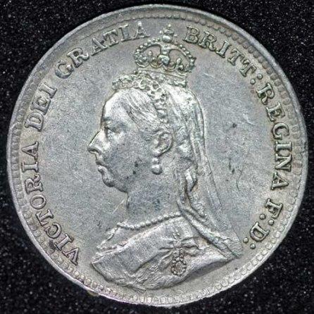 1892 Silver 3d Victoria Obv Web