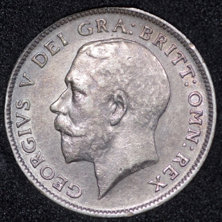 1911 George V Sixpence Obv