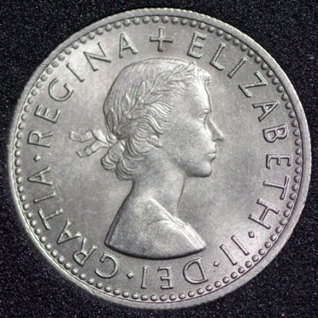 1966 Elizabeth II Sixpence Obv