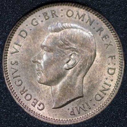 1940 George VI Farthing Obv