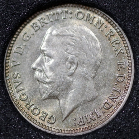 1932 George V Silver Threepence Obv