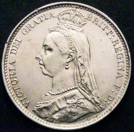 1888 Sixpence Victoria Obv Website
